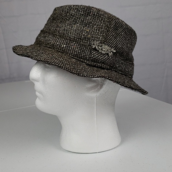 84870885e Vintage Donegal Tweed Irish Walking Hat Large